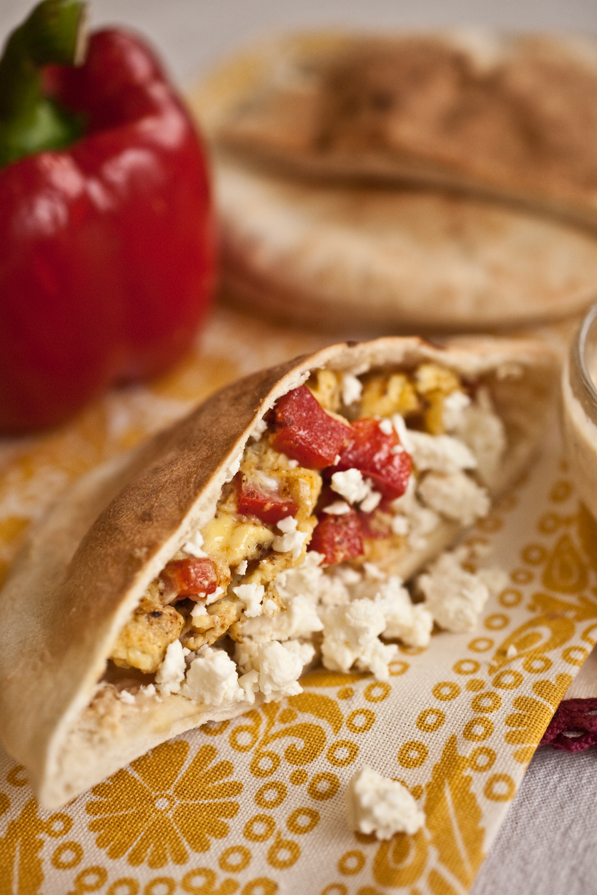 Greek Omelette in a Pita