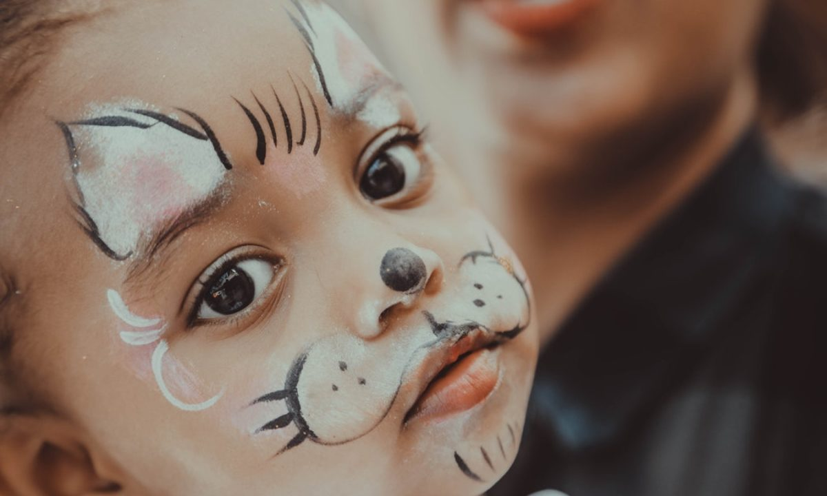 Easy Tiger Face Painting Design