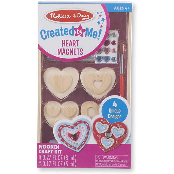 Melissa & Doug Wooden Heart Magnets
