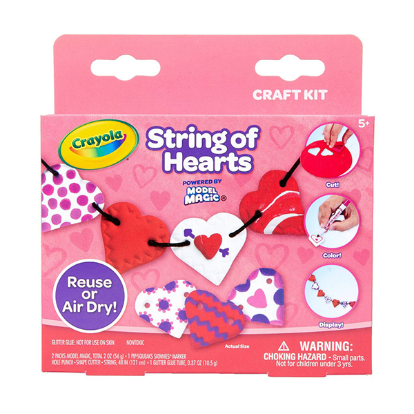 Crayola Model Magic Valentine's String of Hearts