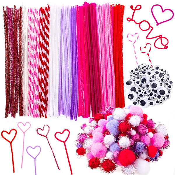 Whaline 500-Piece Valentine's Day Craft Set