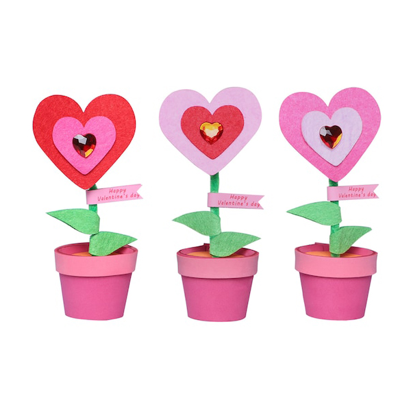 Valentine's Day Potted Heart Foam Craft