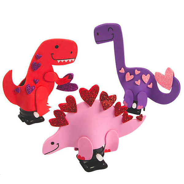 Valentine Dinosaur Wind Up Toys