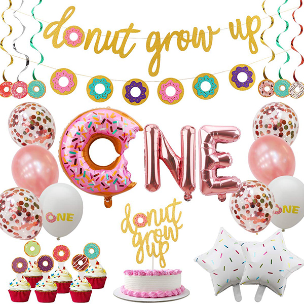 Donut First Birthday Party Supplies