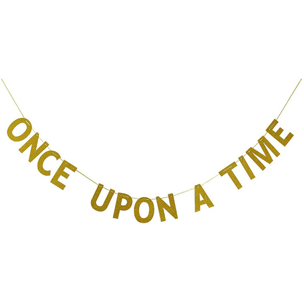 Gold 'Once Upon a Time' Banner