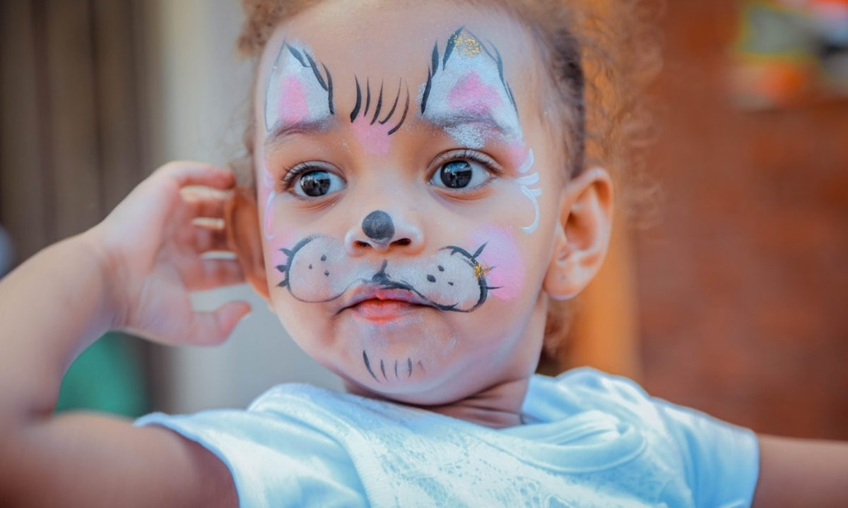 Cute Dog Face Painting Design