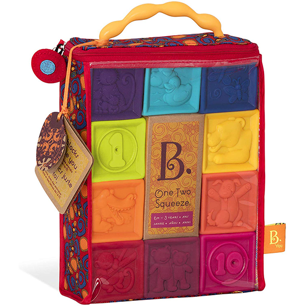 B. Toys One Two Squeeze Building Blocks