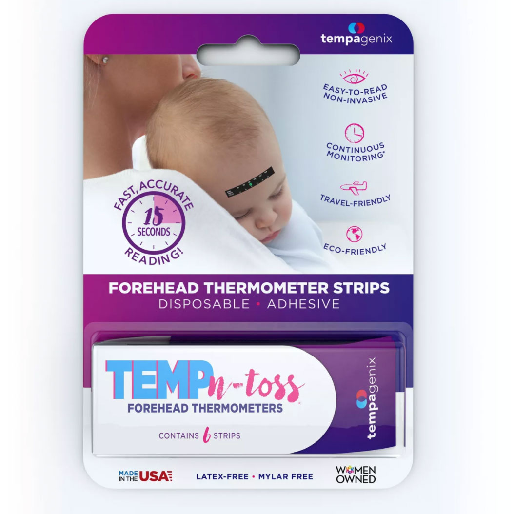 Tempagenix Temp-N-Toss Disposable Forehead Thermometer Strips