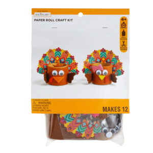 Turkey Paper Roll Craft Kit by Creatology Give Thanks