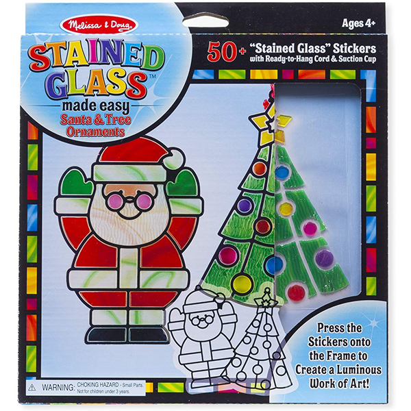 Melissa & Doug Holiday Stained Glass Made Easy