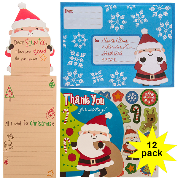 Paper Crafts Kids' Letters to Santa Activity 12-Pack