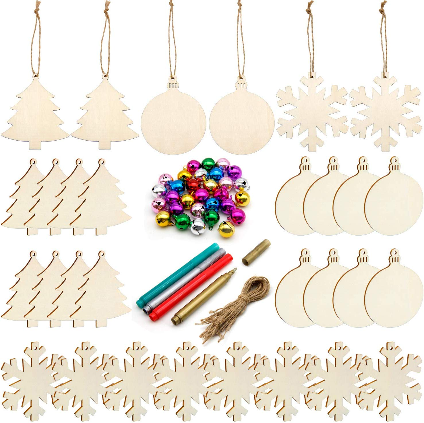 Unfinished Christmas Ornaments Colorful Decoration Kit