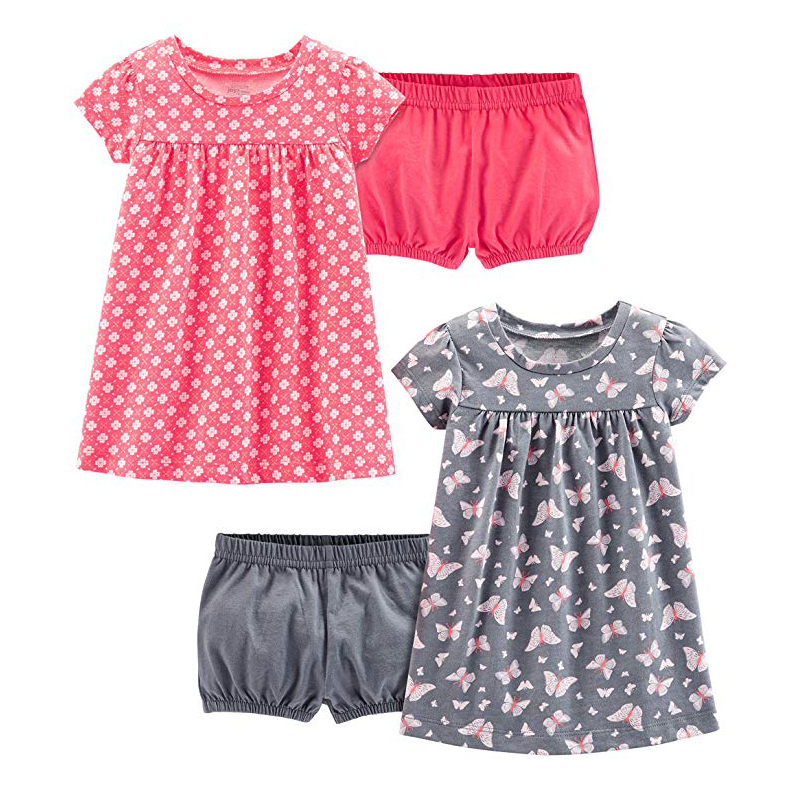 Simple Joys by Carter's 2-Pack Short-Sleeve and Sleeveless Dress Set