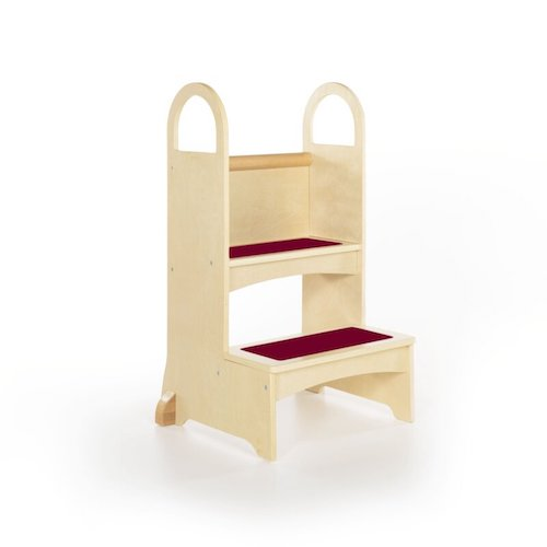 Reach-Up Step Stool with Support Handles