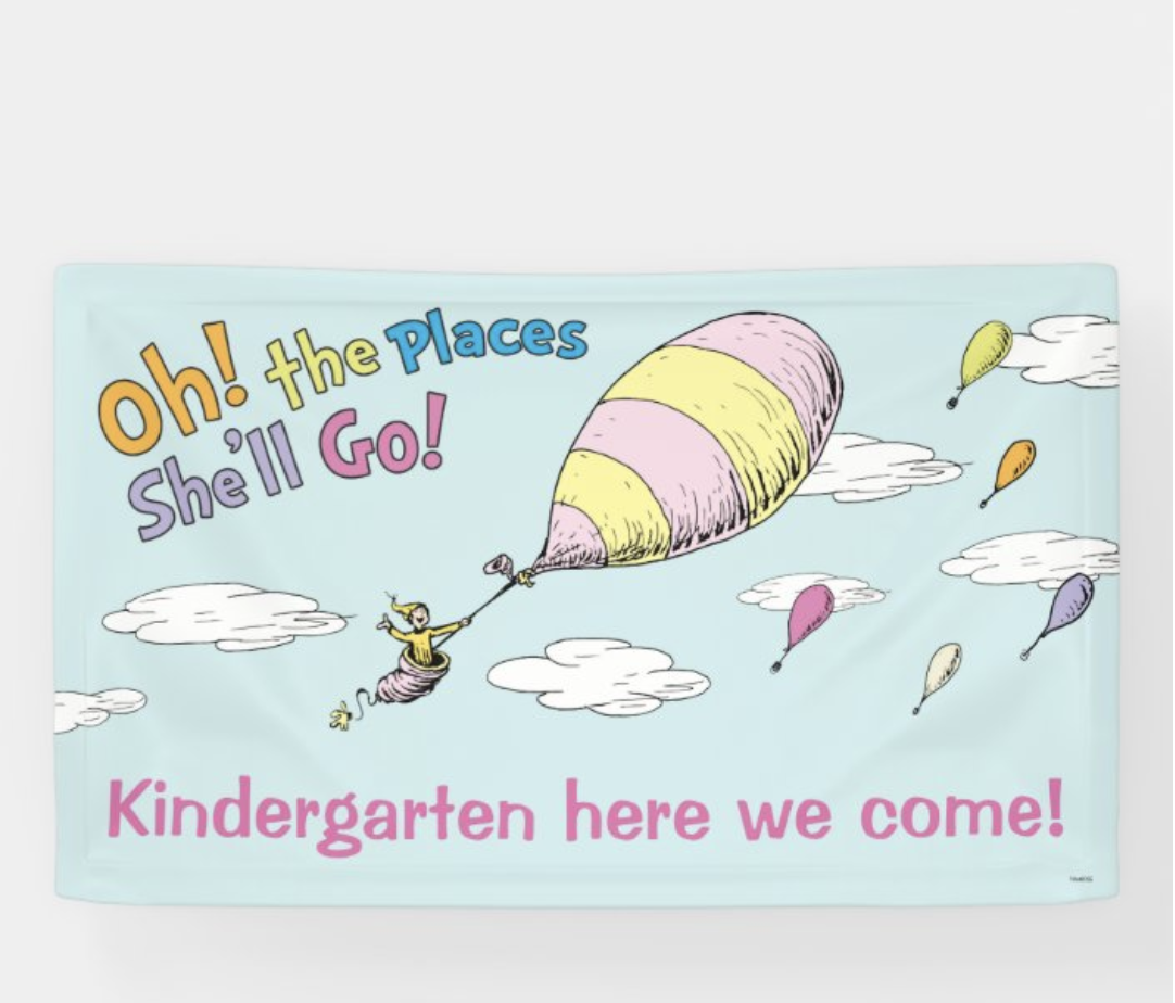 graduation party ideas oh the places you'll go banner