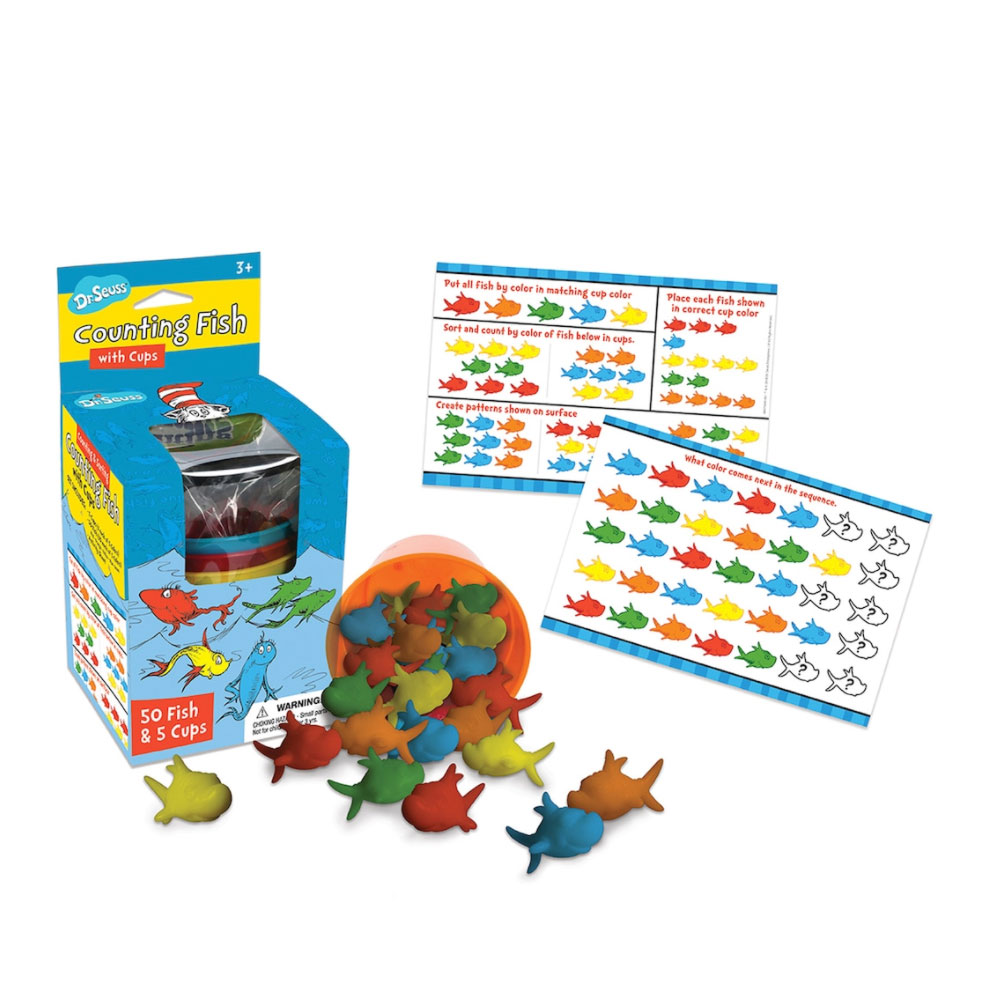 Dr. Seuss Counting Fish with Cups