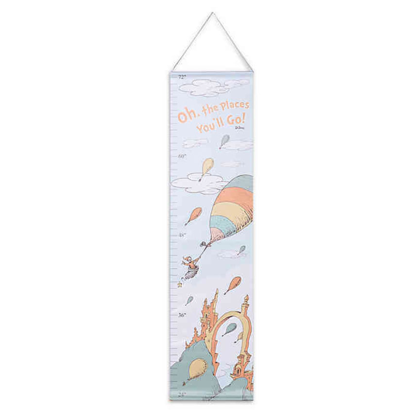 Trend Lab Dr. Seuss Oh, the Places You'll Go! Canvas Growth Chart