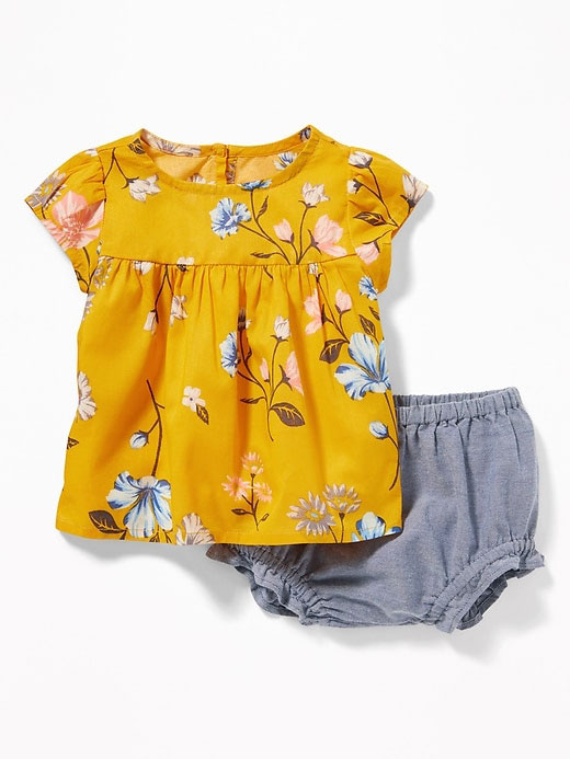 Printed Top and Bloomers Set
