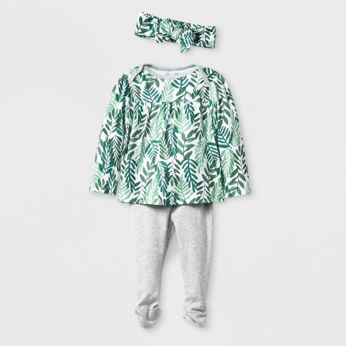 Cloud Island Green Top and Bottom Set