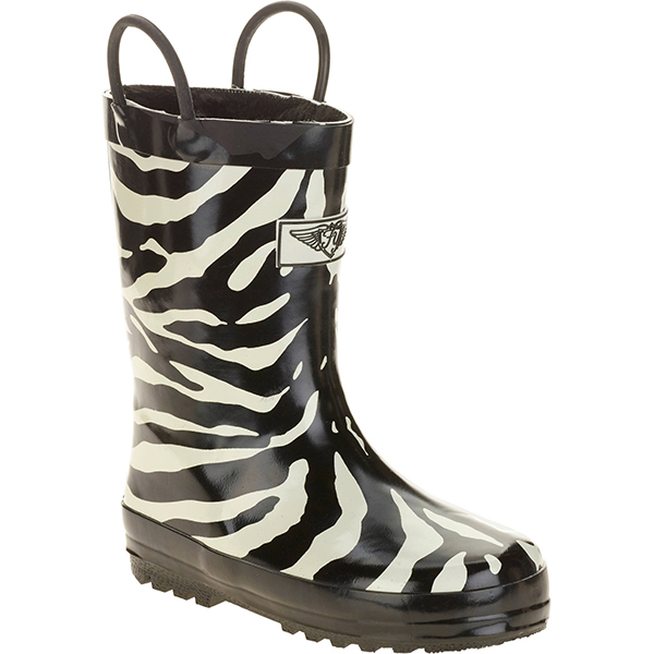 Best Kids Rain Boots: Forever Young Kids' Zebra Printed Rain Boot