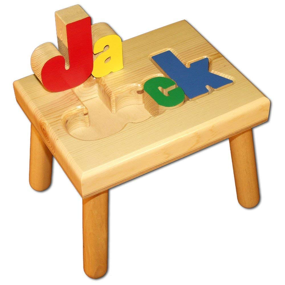 Damhorst Toys & Puzzles Personalized Wooden Child's Name Puzzle Stool
