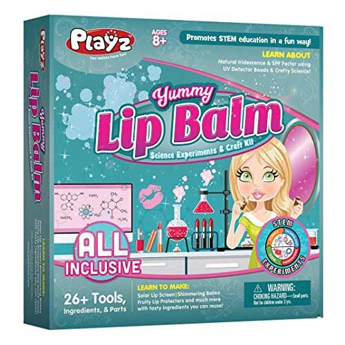 Playz Yummy Lip Balm Science Experiments and Craft Kit