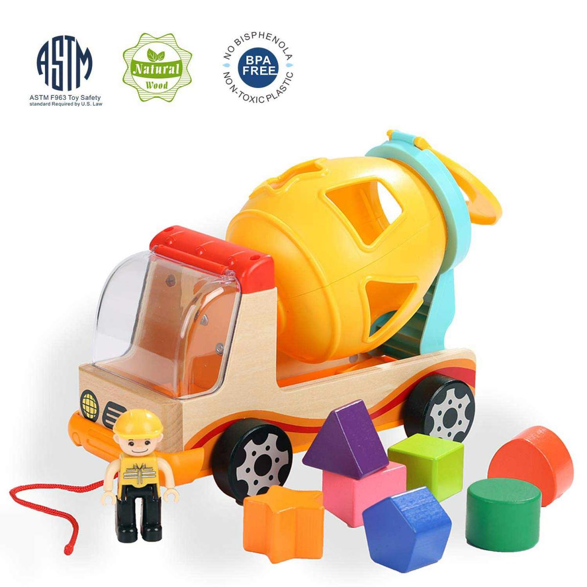 Top Bright Wooden Shape Sorter