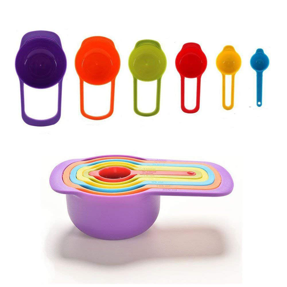 Stackable Colorful Measuring Cups
