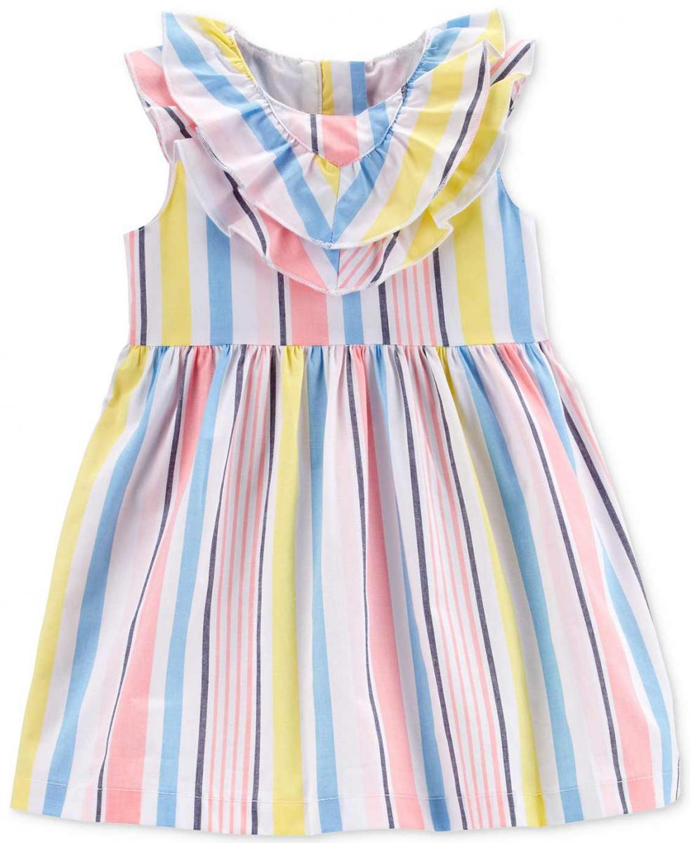 Carter's Multicolor Stripe Cotton Dress