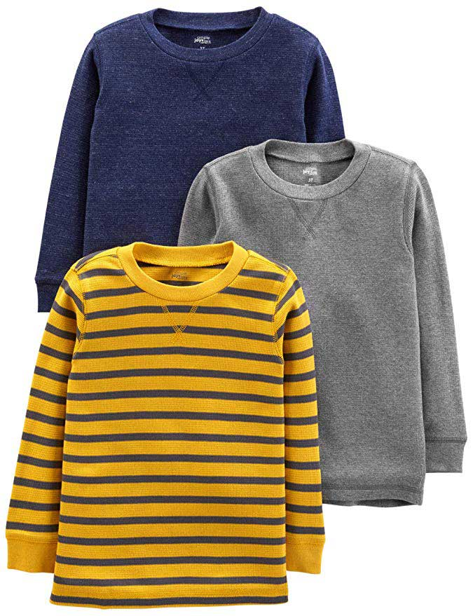 Simple Joys by Carter's 3-Pack Thermal Long-Sleeve Shirts