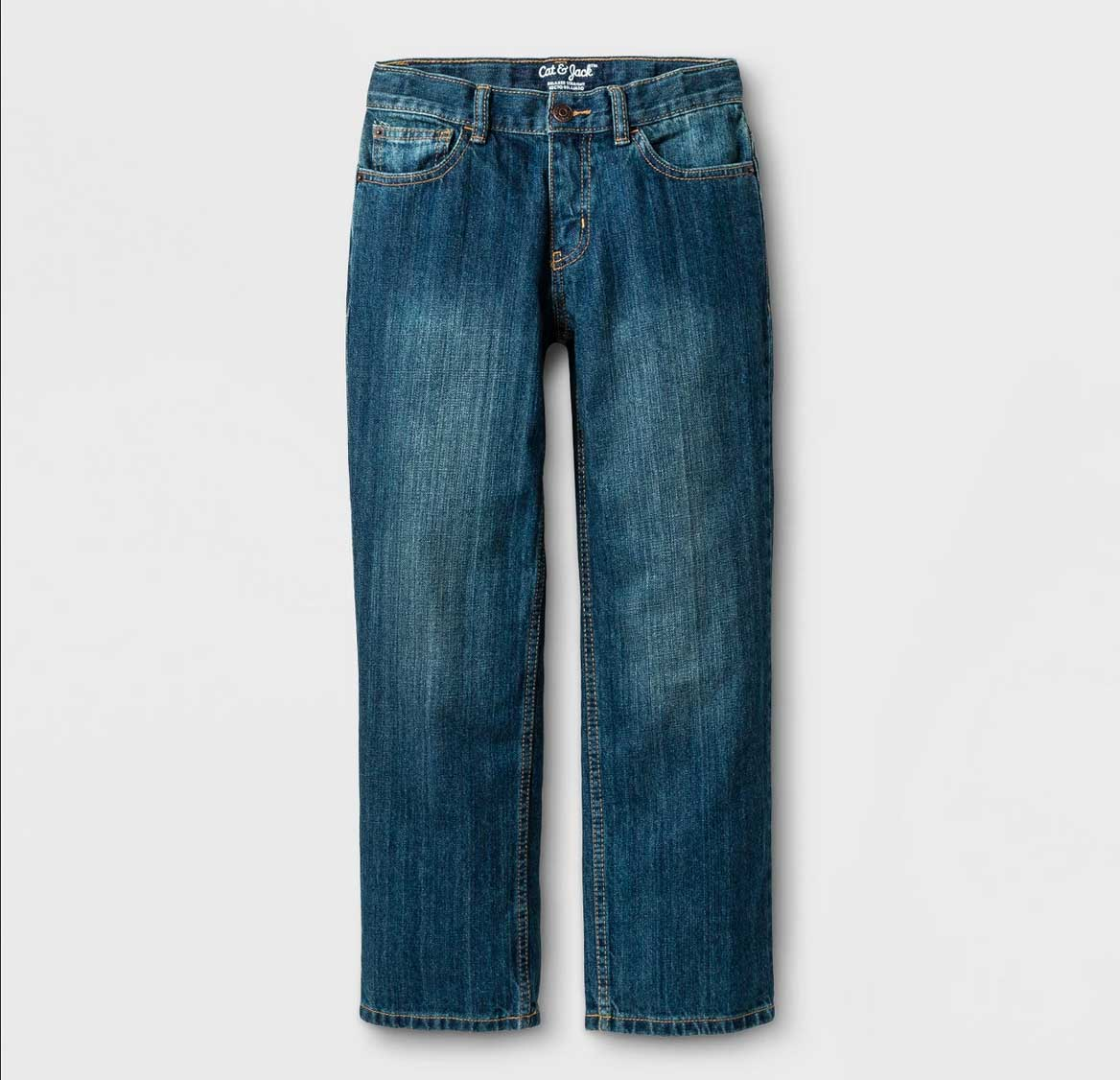 Cat & Jack Relaxed Medium Wash Straight Jeans