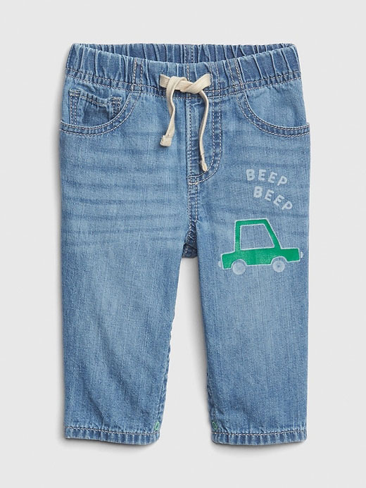 Graphic Pull-On Jeans