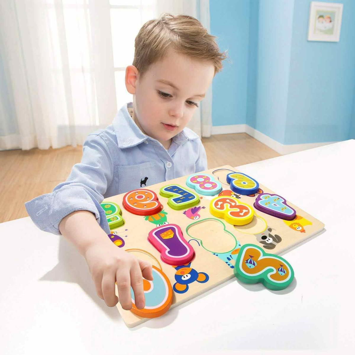 Top Bright Wooden Number Puzzle