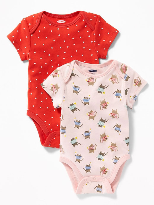 Printed Bodysuit 2-Pack