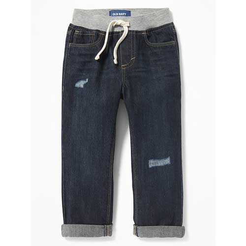 Old Navy Relaxed Jersey-Waist Pull-On Jeans