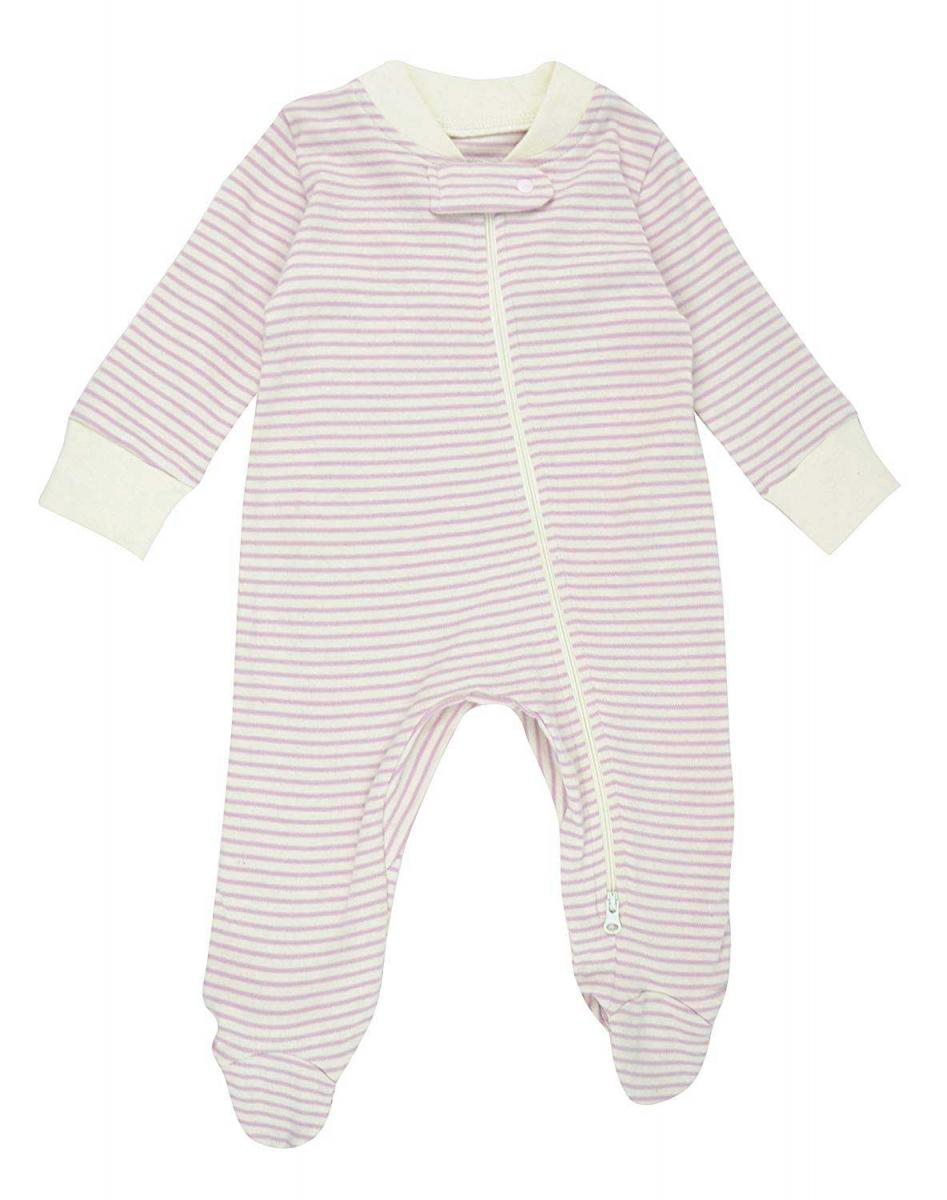Dordor & Gorgor Organic Zip Front Sleep N' Play Footed Pajamas