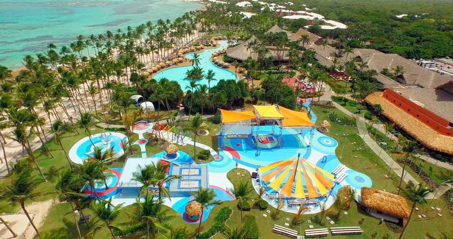 Circus-Themed Pool at Club Med Punta Cana