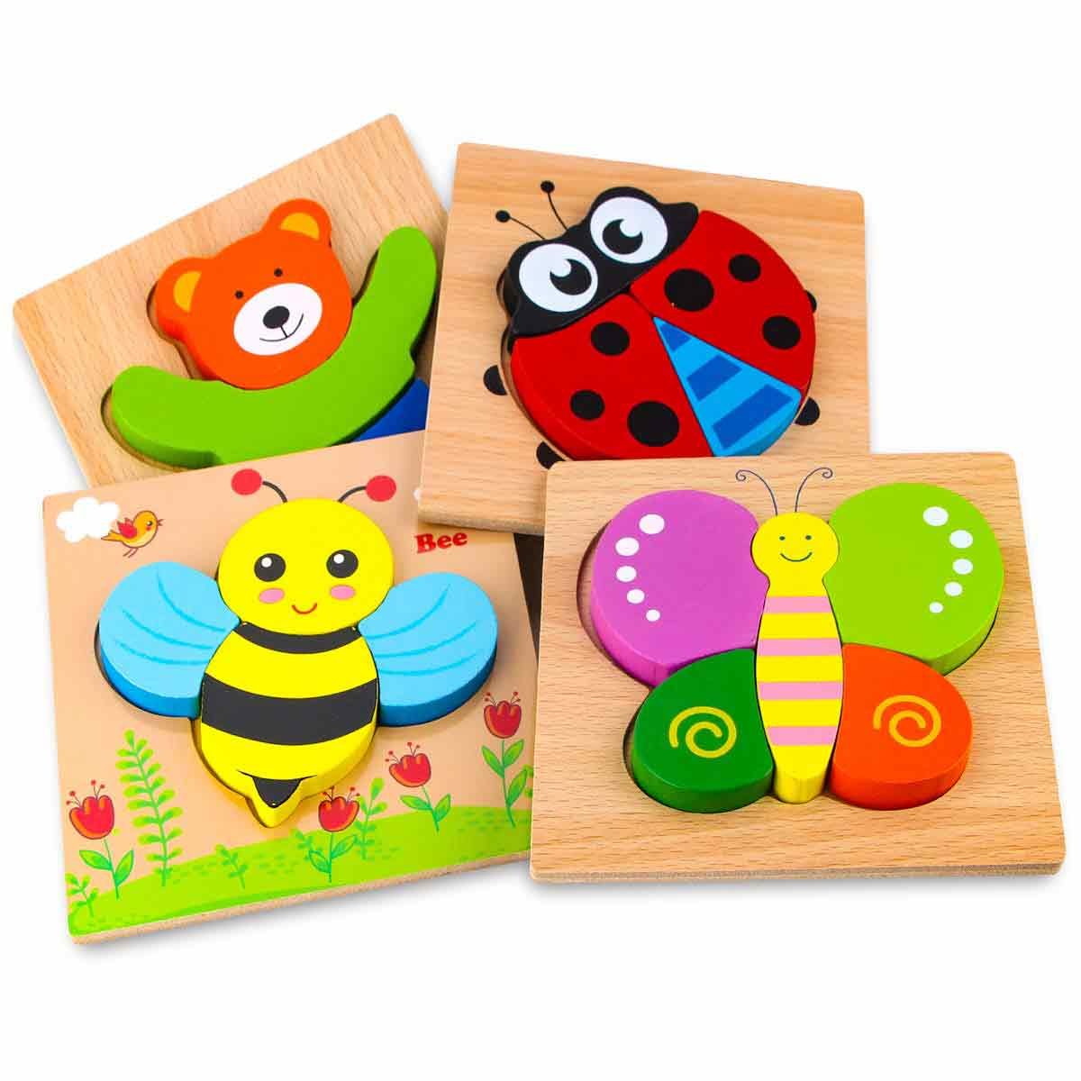 SKYFIELD Wooden Animal Jigsaw Puzzle
