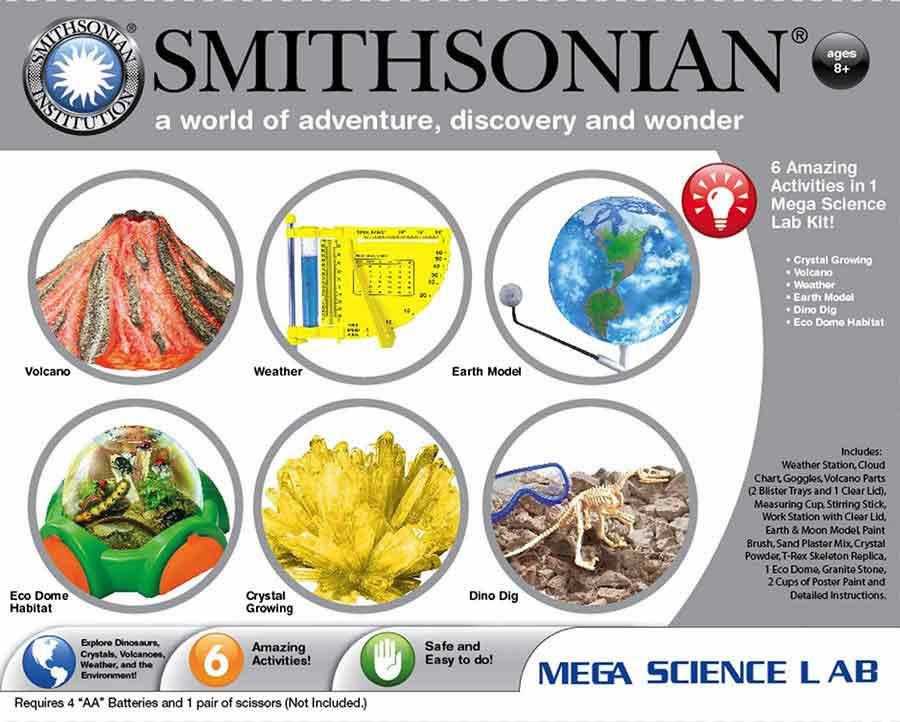 Smithsonian Mega Science Lab 6 Kits in One