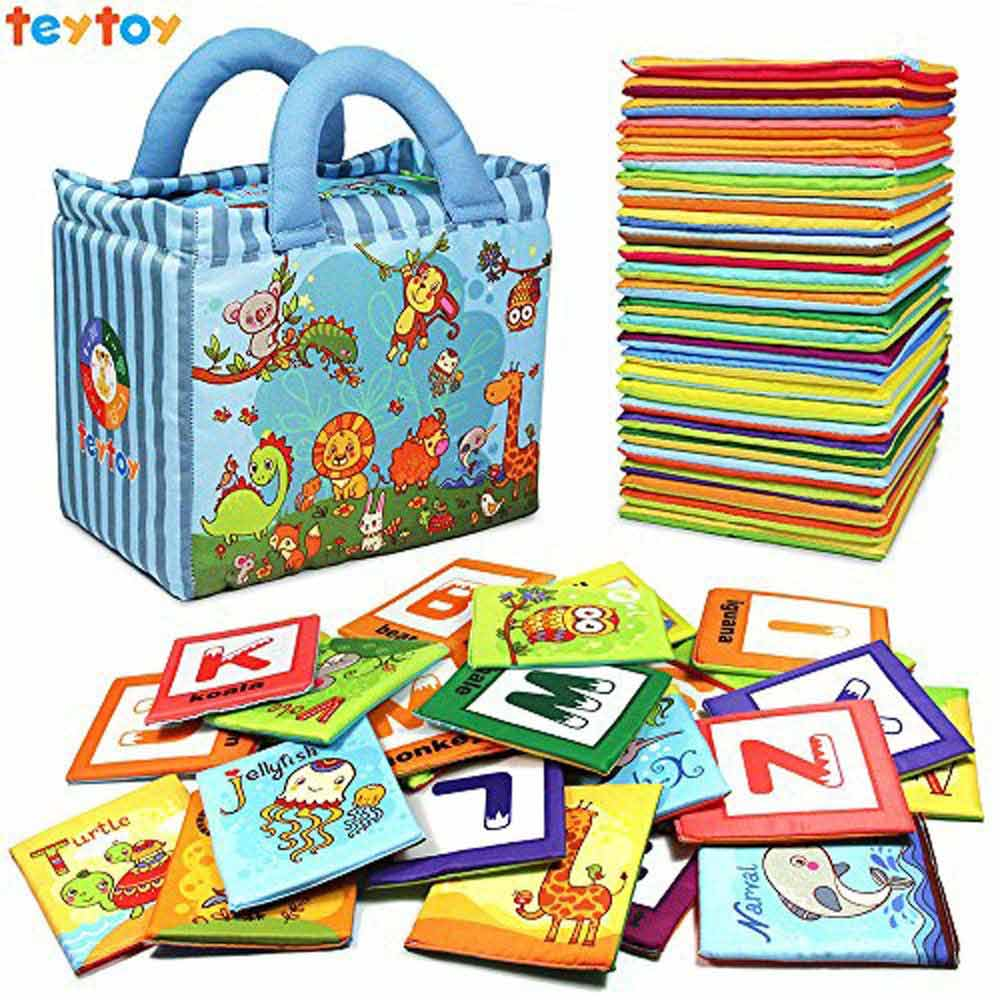 Teytoy Baby Toy Zoo Series Soft Alphabet Cards