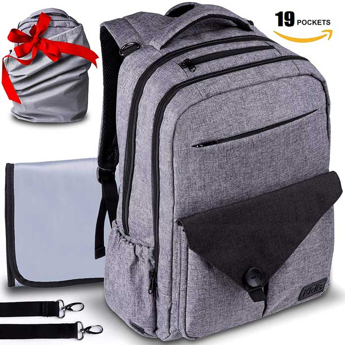 Travel Waterproof Laptop Backpack Diaper Bag
