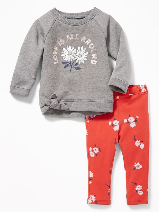 Tunic Sweatshirt and Leggings Set