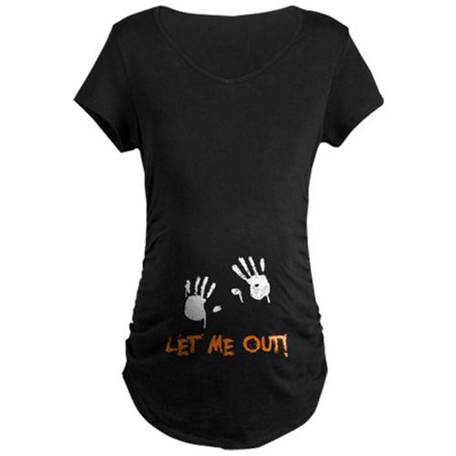Let Me Out Maternity Graphic Tee