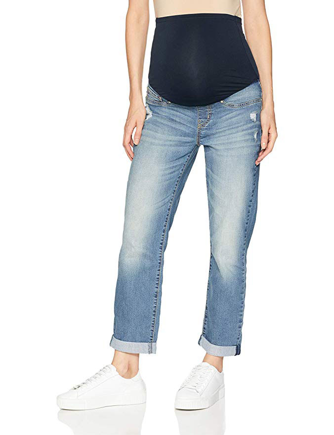 Signature by Levi Strauss & Co. Maternity Slim Boyfriend Jeans