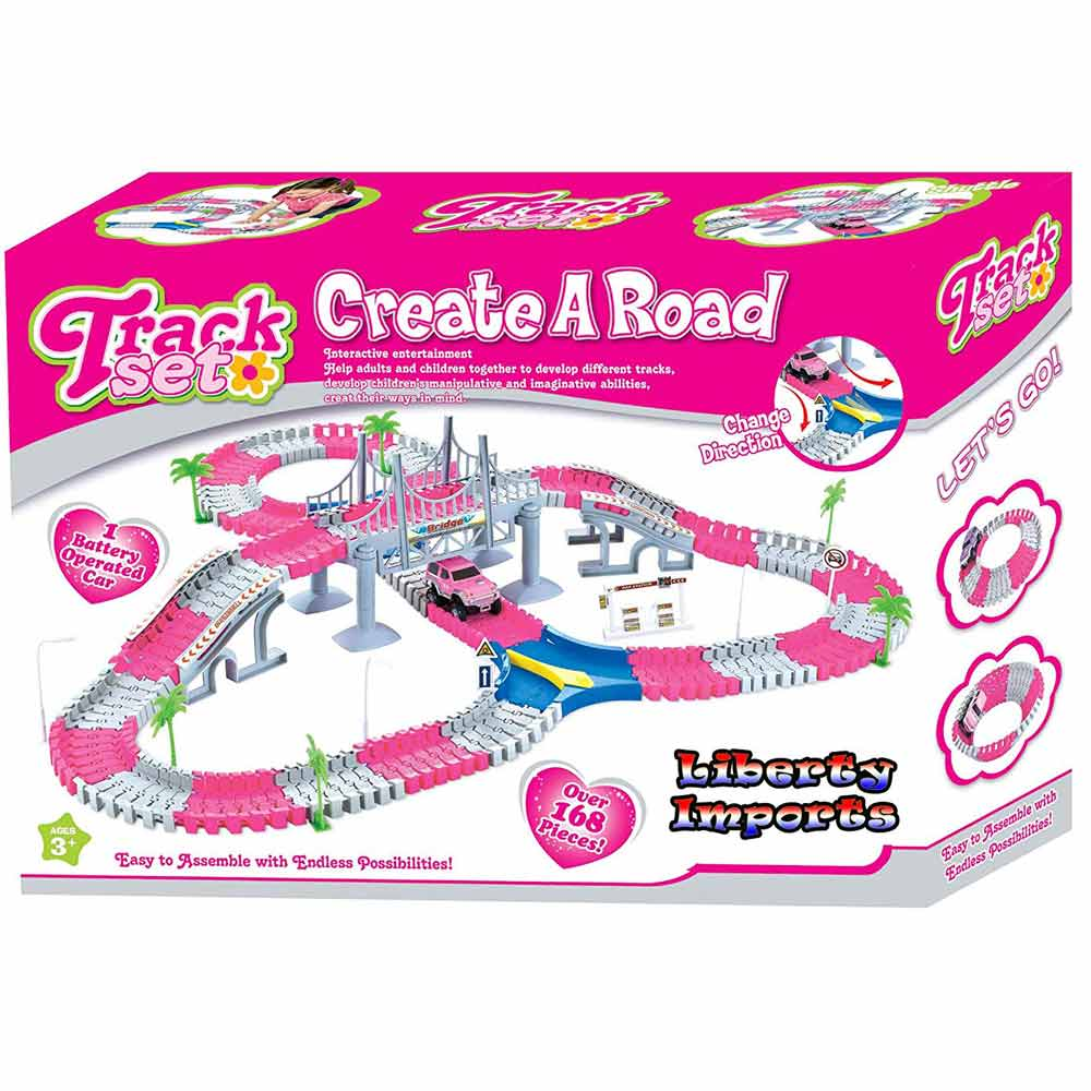 Liberty Imports Speedway Flexible Toddlers Create a Road Flexible Snap Speedway