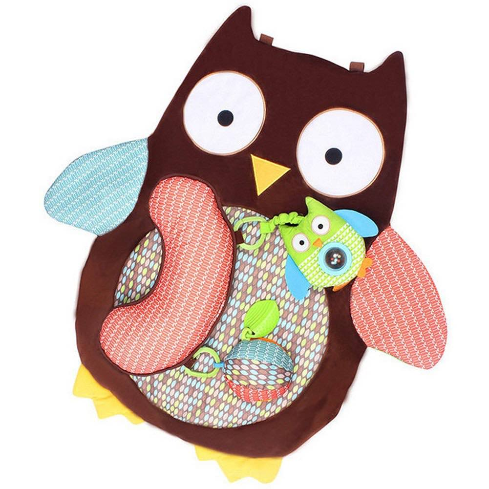 Micelec Cute Cartoon Owl Baby Infant Tummy Time Crawling Play Mat