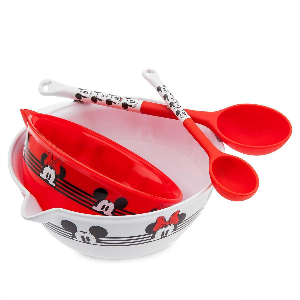 Mickey and Minnie Mouse Mixing Bowl and Spoon Set