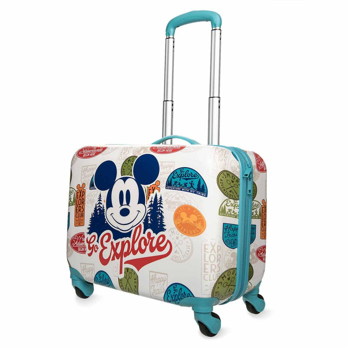 """Mickey Mouse """"Go Explore"""" Rolling Luggage"""