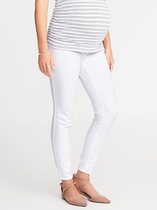 Old Navy Full-Panel Rockstar White Jeans