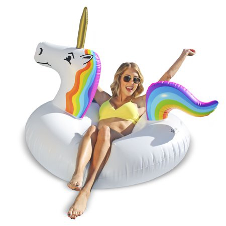 GoFloats Unicorn Party Tube Swimming Pool Raft